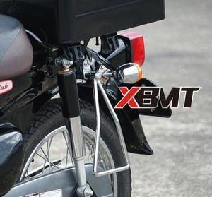 Image 5 - Motosiklet evrensel heybe destek barlar montajlar braket yan bagaj Honda süper Cub 50 65 70 90 C100 C125