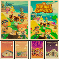 Горячая игра животное пересечение постер Ретро украшение стены живопись для детской комнаты домашнее украшение аниме постер