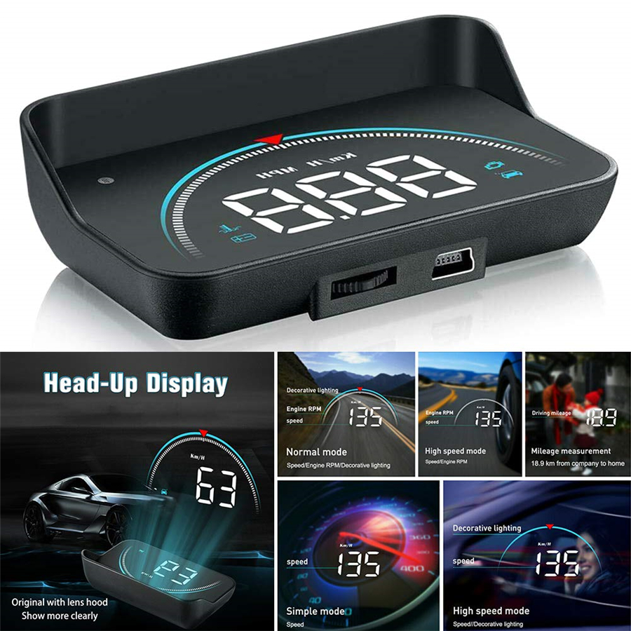 Автомобильный дисплей HUD OBD2 II, система предупреждения о превышении скорости, сигнализация напряжения