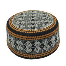 新しい祈り帽子綿刺繍 Islamism イスラム教徒の帽子イスラムアラビアインドユダヤ人帽子サウジアラビア帽子男性用スカーフ服