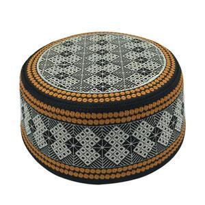 Image 1 - New Prayer Hats Cotton Embroidery Islamism Muslim hat Islam Arabic India Jewish Hat Saudi Arabia Hats for men Headscarf Clothing