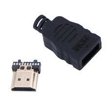 NOVA HDMI Macho Conector Terminais Com Caixa de Transferência 1 PC