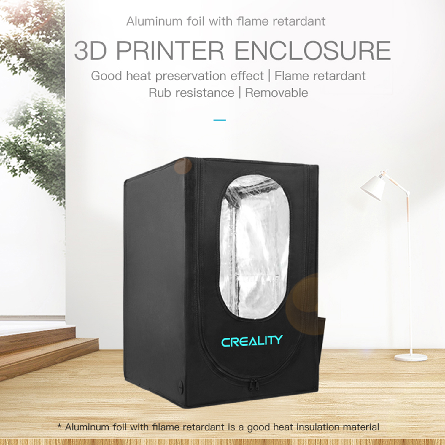 Creality 3D 3D Printer Enclosure Protection Cover Heat Preservation Flame Retardant for Ender-3 Series/CP-01/Ender-2/CR-100 Malaysia