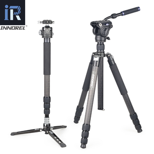 INNOREL RT85CL Professional Carbon Fiber Tripod Monopo with Panoramic Low Profole Ball or Fluid Head for Digital DSLR Camera