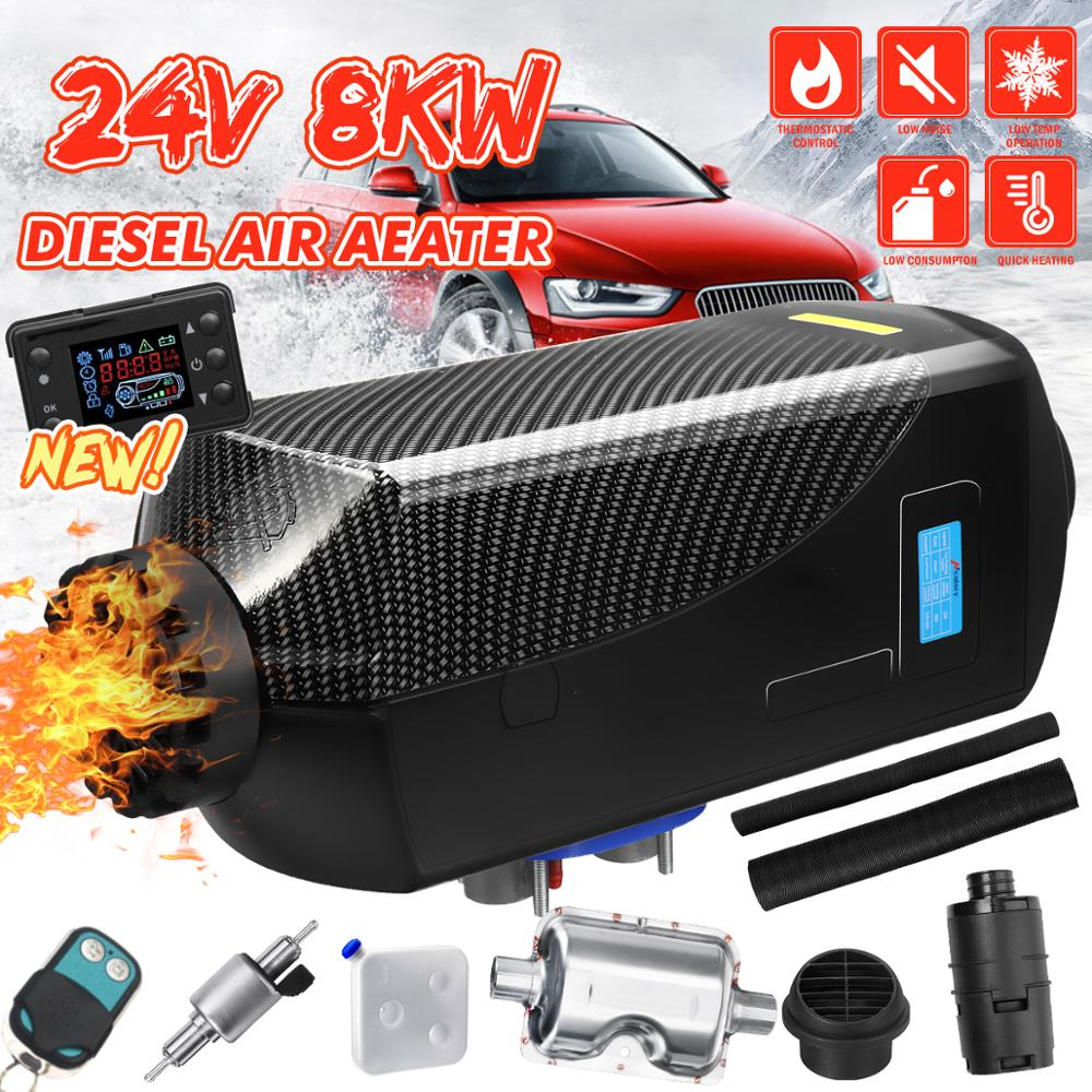 24V Car Heater 8KW Car Parking Air Diesels Fuel Heater 1 Hole 8000W for RV Boats Motorhome Trucks Trailer Car Accessorie 15LTank image