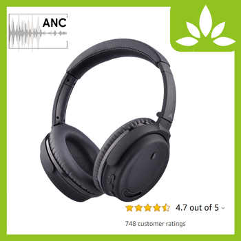 Avantree Active Noise Cancelling Bluetooth 4.1 Headphones Mic, Wireless Wired Comfortable Foldable Stereo ANC Over Ear Headset - DISCOUNT ITEM  0% OFF All Category
