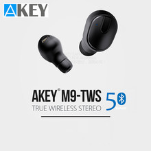 AKEY TWS Bluetooth Earphones V5.0 Super Mini wireless bluetooth Earphone HD Stereo Wireless Noise Cancelling Waterproof M9(China)
