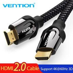 Venção HDMI Cabo HDMI para HDMI Cabo de Cabo para Switch Splitter HDMI 2.0 3D 60FPS 4K TV LCD Laptop PS3 Computador Projetor Cabo
