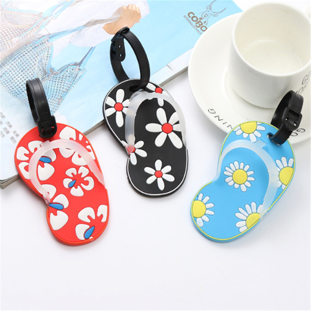 1 PC Shoes Style Luggage Tag Fashion Women Silica Gel Suitcase ID Address Holder Baggage Boarding Tag Portable Label 2019 NEW