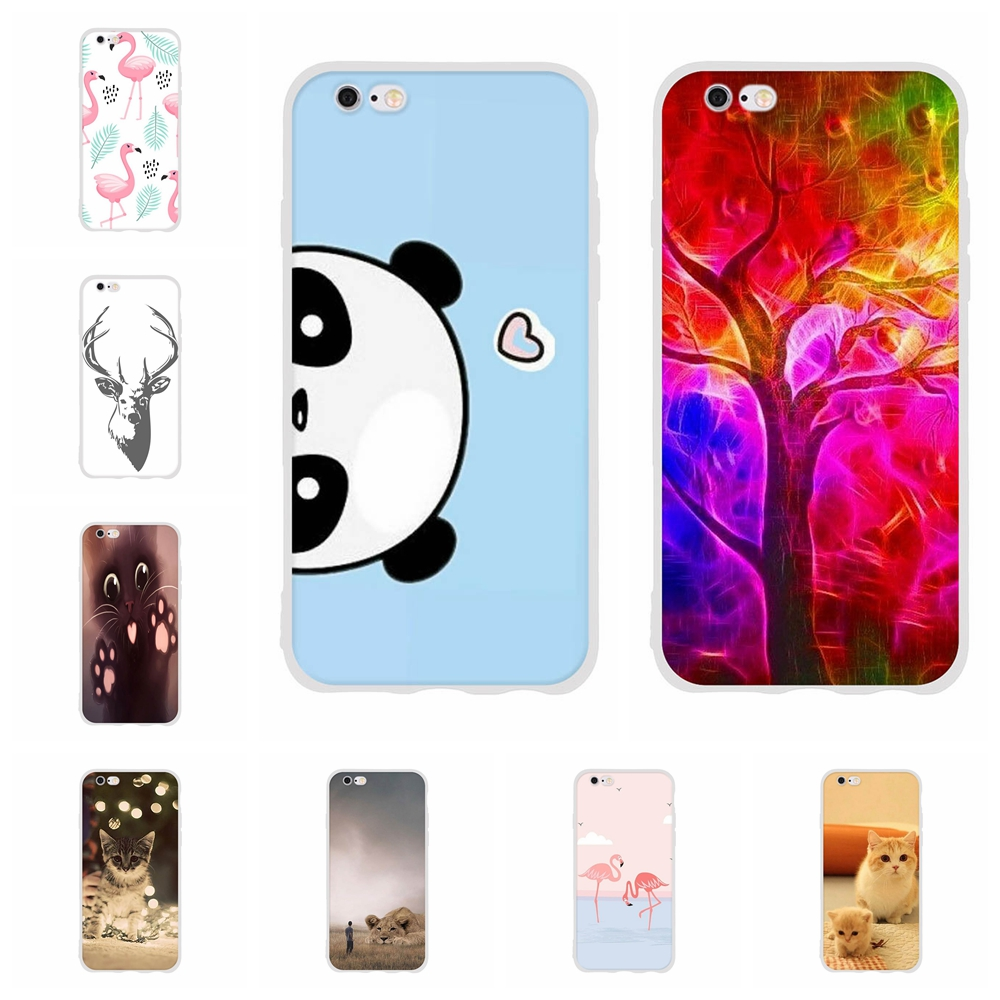 For Apple iPhone 5 5s SE Case Soft TPU Silicone 6 6s Cover Geometric Patterned Shell