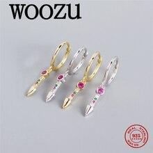 Woozu Красочные роскошный романтический пуля висящие серьги