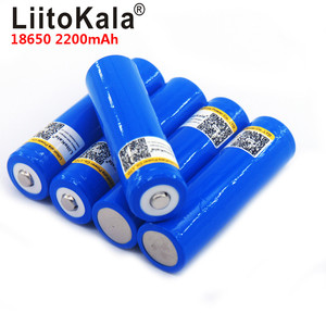 LiitoKala 3.7V 18650 2200mA Rechargeable lithium battery Light Flashlight batteries LED light battery and Pointed