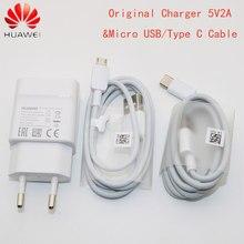 Huawei p10 p20 pro lite p9 mais adaptador de carregador parede de viagem 5v2a usb c tipo c pro tipo c cabo nova 3e 4 5 3i 2 mate9 mate10