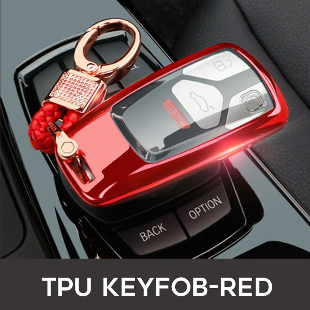Image 5 - 2019 Car Key Fob Case Cover For AUDI A4 A4L A5 B9 Q5 Q7 S4 S5 S7 TT TTS 8S 2016 2017 B9 car styling full protect TPUKey Case for Car   -