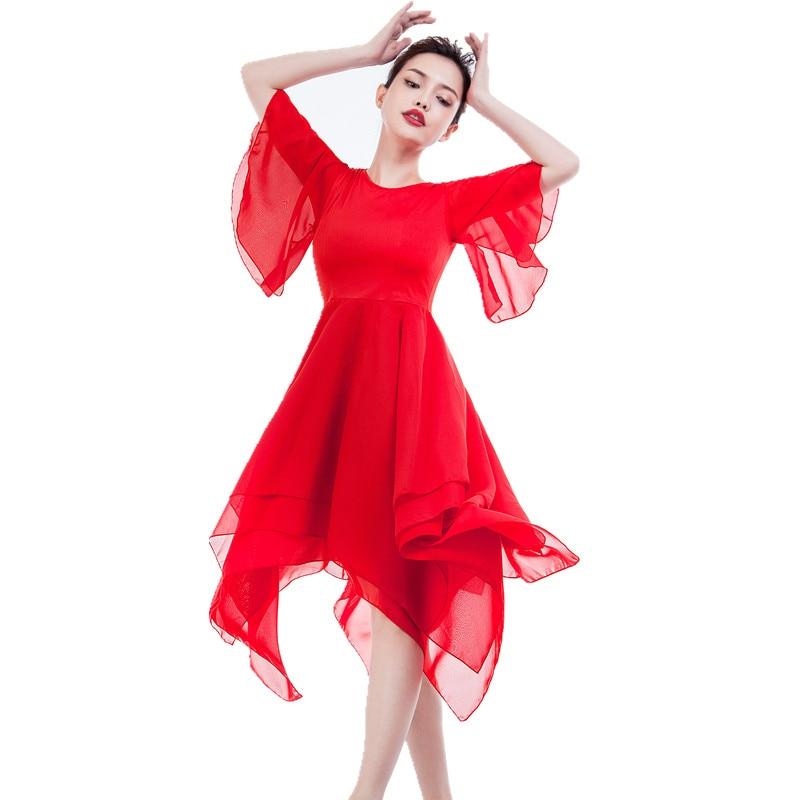 White-Balck-Red-Classical-Youth-Modern-Dance-Elegant-Ballet-Tutu-Adult-Contemporary-Dance-Costumes-Long-Ballet