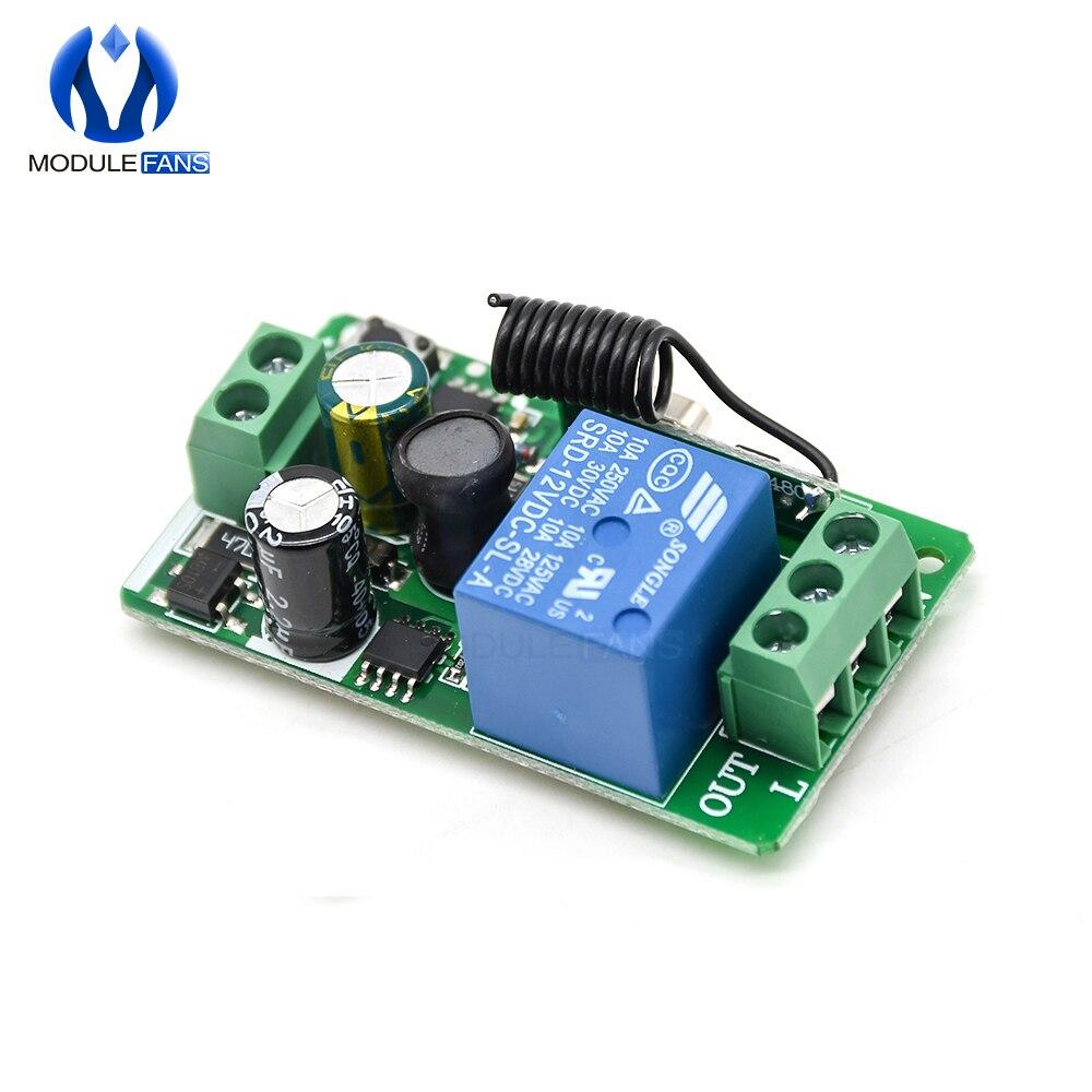 315MHZ 433MHz 315MHZ cc 12V 433 V 10A 1 Ch canal sans fil RF télécommande carte émetteur récepteur relais commutateur Module