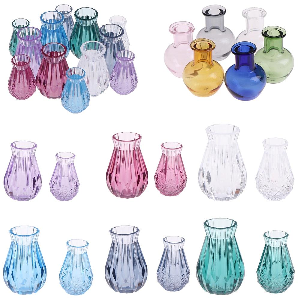 1:12 Doll House Flowerpot Vase Ceramics Teapot  Basin DIY Furniture Toys Dollhouse Miniature Accessories