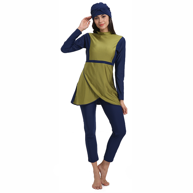 Muslim Swimsuit Plus Size Islamic Swimwear Surf Wear Sport Burkinis Women Full Hijab Modest muslimah Female Bathing 4XL