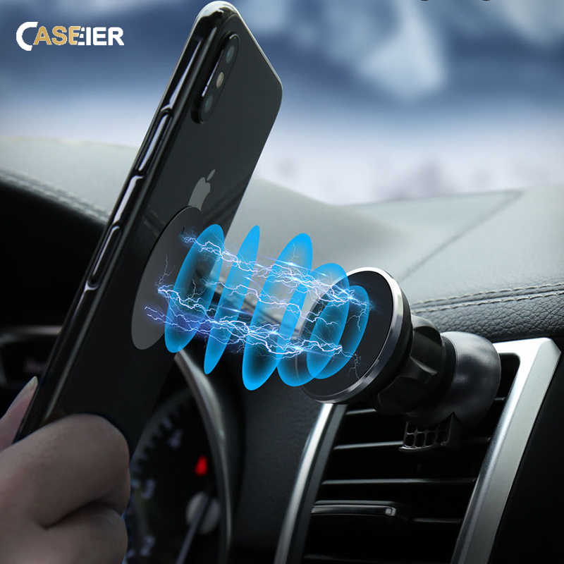 CASEIER Universal Magnetic Car Phone Holder For iPhone 8 7 X XS Air Vent Mount 360 Rotation Magnet Car Holder For Mobile Phone