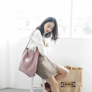 Image 2 - Ougger kadın omuz çantaları çanta yüksek kaliteli gri kadife çile büyük kapasiteli moda İngiltere tarzı alışveriş kova çantası