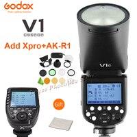 Godox V1 V1S/V1N/V1C/V1O/V1F TTL Li ion Round Head Camera Speedlight Flash For Nikon/Sony/Canon/Fujifilm/Olympus w/ XPRO Trigger