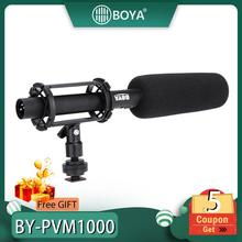 BOYA BY-PVM1000 Microphone Professional DSLR Condenser Microphone Video Interview Reporting for Canon Nikon Sony DSLR Cameras boya by wm4 lavalier wireless microphone system for canon nikon sony panasonic dslr camera camcorder iphone android smartphone