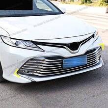 Lsrtw2017 edelstahl auto front grill net trimmt für toyota camry 2019 2020 2021 70 v70 xv70 trd zubehör dekoration