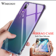 Soft Airbag Silicone Case for Huawei P20 P30 Mate 20 Pro Lite Nova 3i 3e 4e 4 Etui Transparent TPU Shockproof Bumper Cover Coque(China)