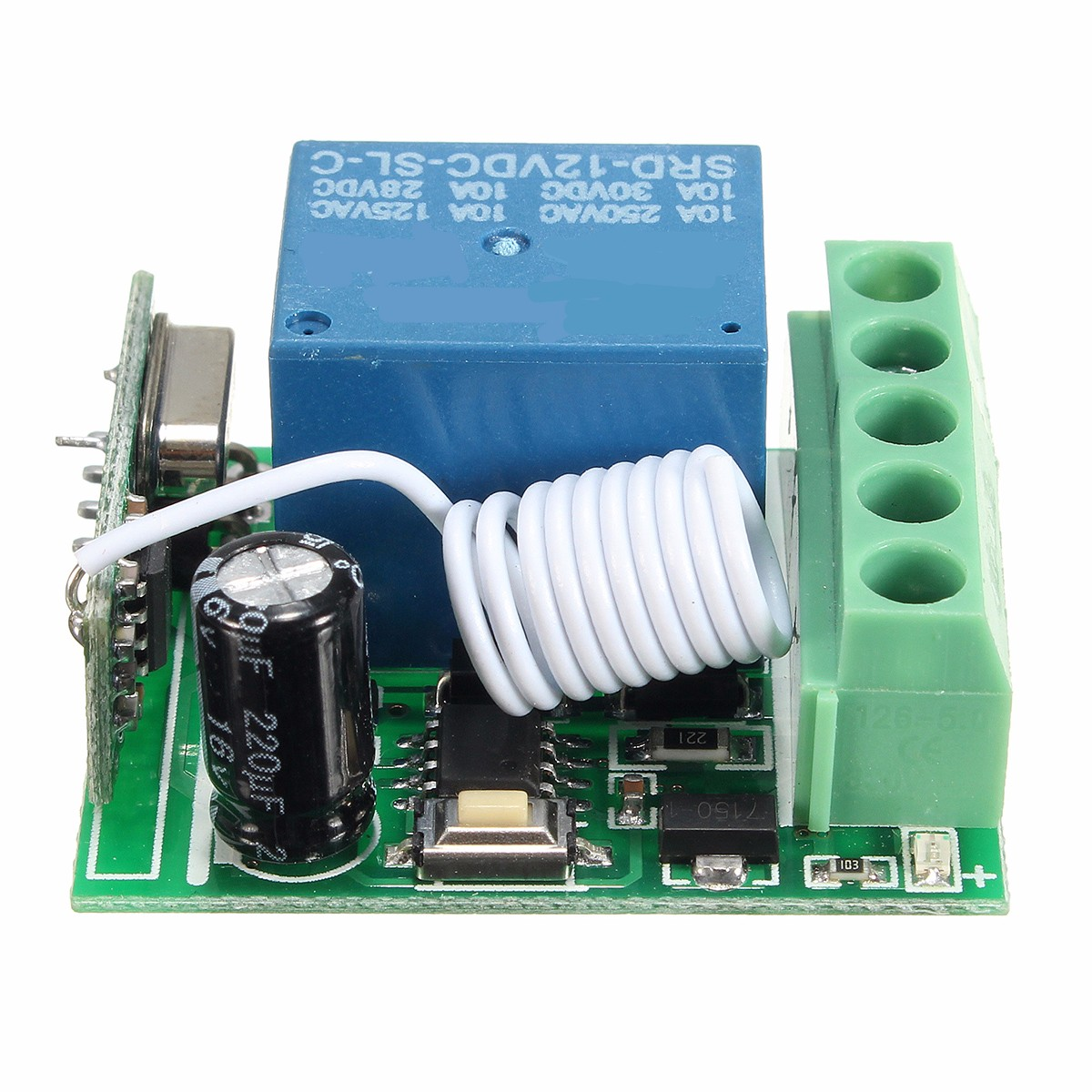 LEORY 433MHz <font><b>RF</b></font> Remote Control Receiver Wireless Relay Switch Module Receiver DC12V 10A <font><b>1CH</b></font> image