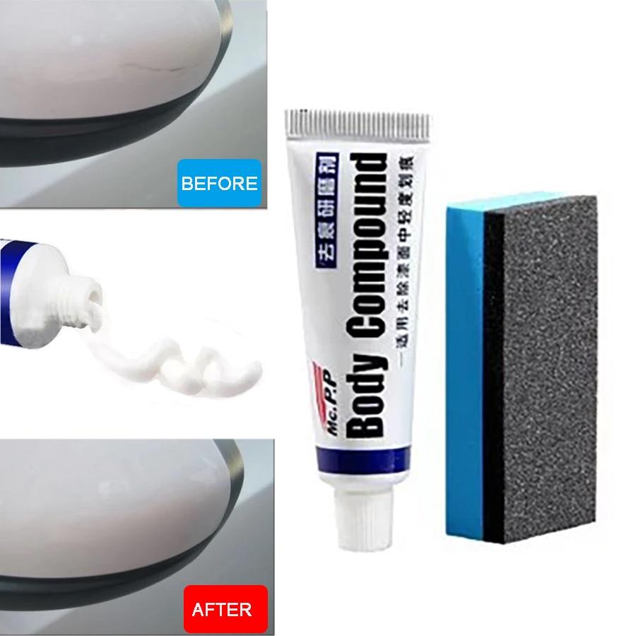 Wooeight Car Compound Paste + Sponge Scratch Repair Assistance Remover Vehicle Body Paint Care Polishing Grinding Paste Set