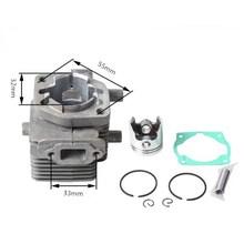Комплект цилиндров 32 мм для ZENOAH kazei KS360 KS375 22.5cc ZYLINDER поршневый кольцевой штифт зажимы в сборе 2300 2310 головки триммер части