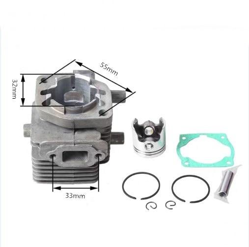 Piston Kit Assy Ring Set Clip Pin Kit fit KAWASAKI TD40 Engine Brushcutter 40MM