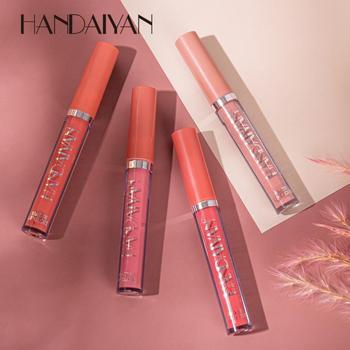 Brillo labial mate de terciopelo de HANDAIYAN, lápiz labial hidratante líquido de 12 colores, brillo labial impermeable, Cosméticos de maquillaje voluminosos y sexis