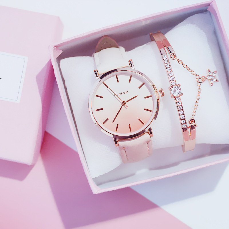 2019 Women's Watch Modern Fashion Women Quartz Wristwatch Student Leather Ladies Bracelet Luxury Watch Casual Relogio Femenino
