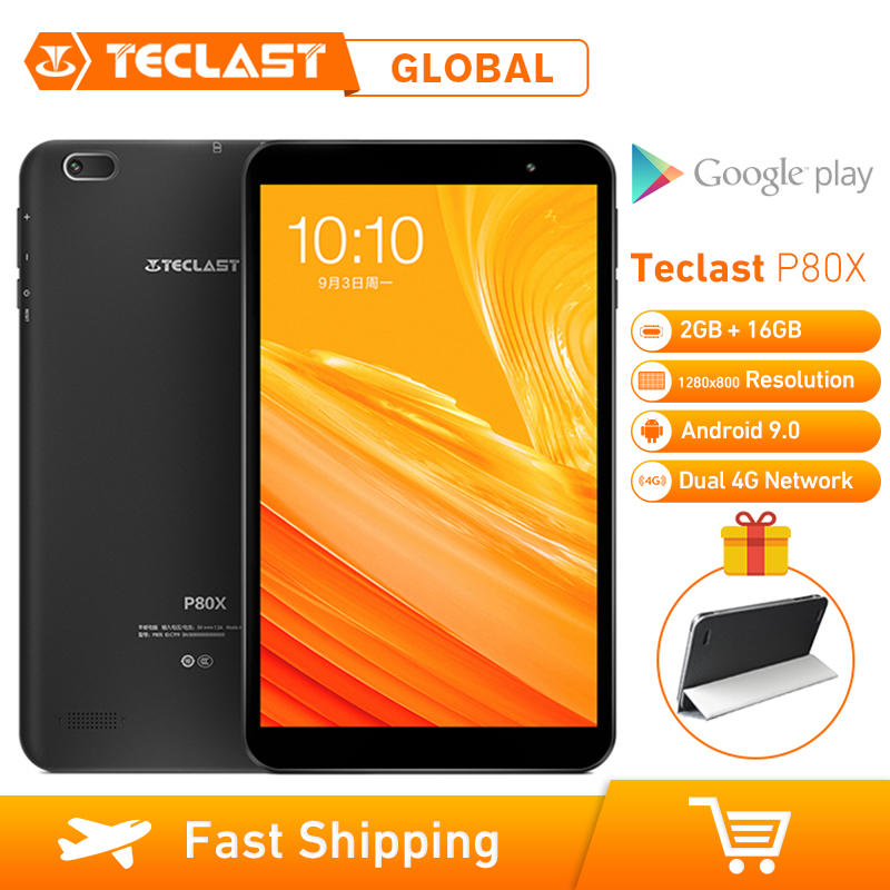 Teclast P80X 8 polegada 4G Tablet Android 9.0 SC9863A IMG GX6250 16 2GB RAM Octa Núcleo 1.6GHz GB ROM Câmeras Dual Tablet
