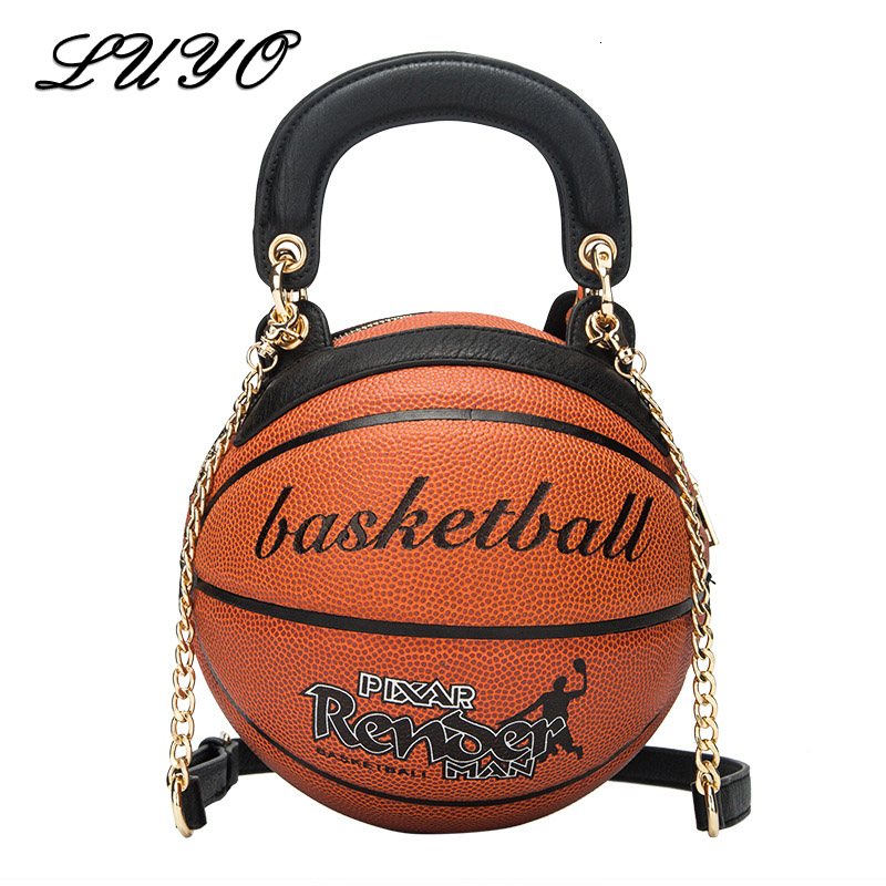 New Funny Round Basketball Handbag Shape Originality Chain Crossbody Bags For Women Shoulder Bag Basket Female Ladies Handbags|Top-Handle Bags| - AliExpress