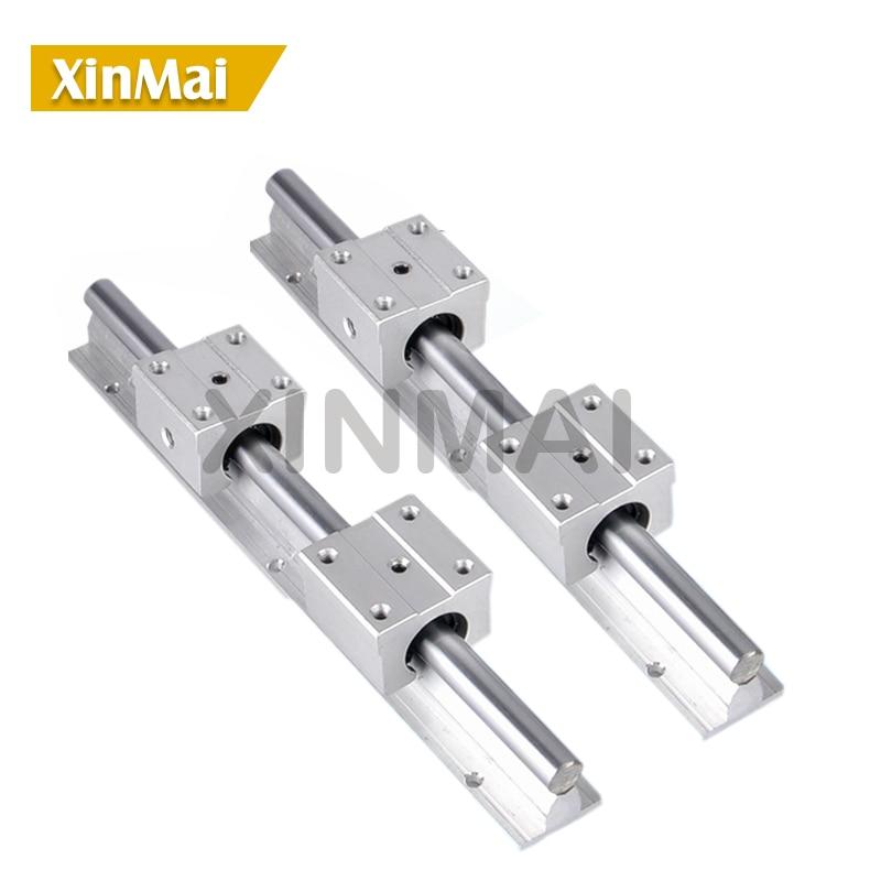 2 sets SBR linear guide SBR12 rail 1300mm length + 4 pcs SBR12UU bearing units