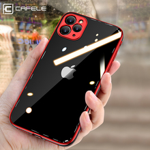 Cafele Plating Case For iPhone 11 Pro Max Transparent Soft TPU Silicone Cover Case For iPhone 11 pro Ultra Thin Shockproof Cases case for iphone 11 pro max soft tpu case ultra thin bumper case for iphone 11 pro case cover frosted shockproof covers