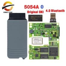 2019 Top VAS odis 5054A V5.0.6 com Melhor Qualidade v4.0 Bluetooth vas5054a vas5054 Ferramenta de Diagnóstico OKI chip full Frete grátis