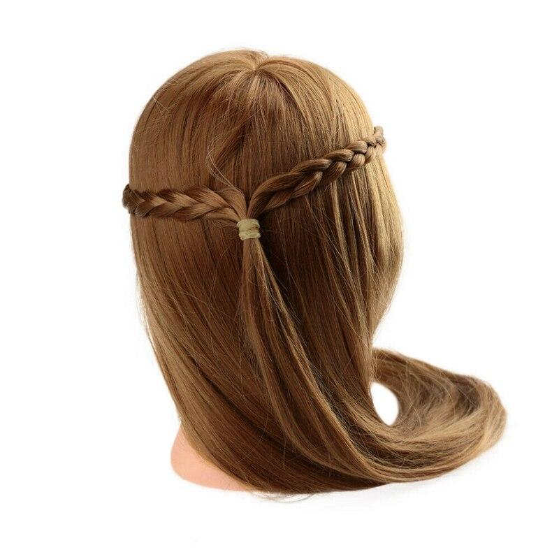 Cabelo penteado formação exercício cabeça manequim manequim cabeça