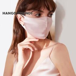Hango máscaras de seda de gelo máscara de tecido lavável máscara protetora reutilizável pm2.5 filtro máscara feminina moda verão máscara fresca com impressões