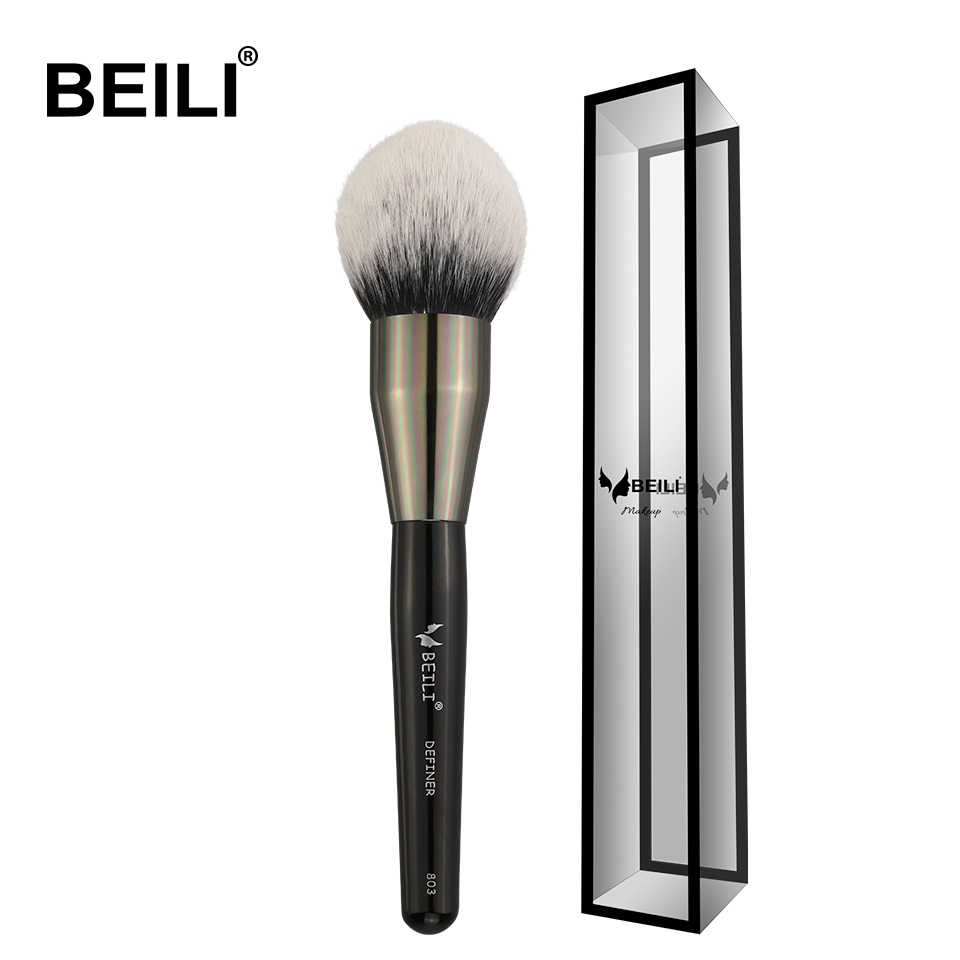 BEILI Schwarz Große Pulver Erröten Definierer weiche Synthetische Haar Make-Up Pinsel Foundation Highlighter Fan Pinsel Lidschatten Cruelty Free