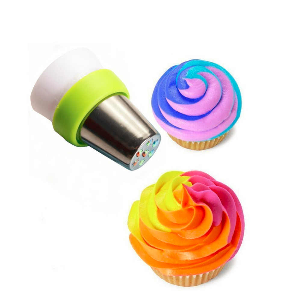 3 홀 결합 도구 아이싱 파이프 노즐 3 색 변환기 과자 크림 케이크 컵케익 퐁당 쿠키 장식 도구