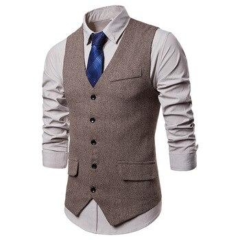 Mens Sleeveless Business Vests