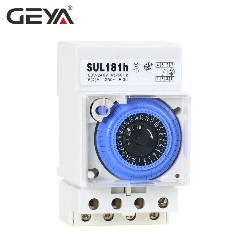 JunYe AC 110V AC 220V 15 Minutes commutateur de minuterie m/écanique 24 Heures Rail DIN programmable