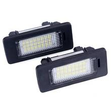 FISHBERG 2Pcs Led Number Plate For BMW e60 Number License Plate Light Lamp For BMW E39 M5 E70 E71 X5 X6 E60 M5 E90 E92 E93 M3 error free led license plate light for bmw e82 e88 e90 e92 e39 e60 e61 m5 sedan e70 x5 e71 e72 x6 5 series