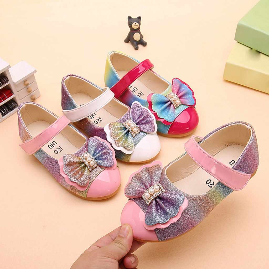 Zapatos para niñas, zapatos para niñas, zapatos planos, antideslizantes, sapato infantil