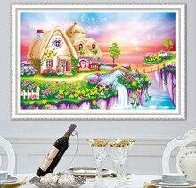 5d diy pintura diamante paisagem casa ponto cruz decoração para casa bordado cenário artesanal presente