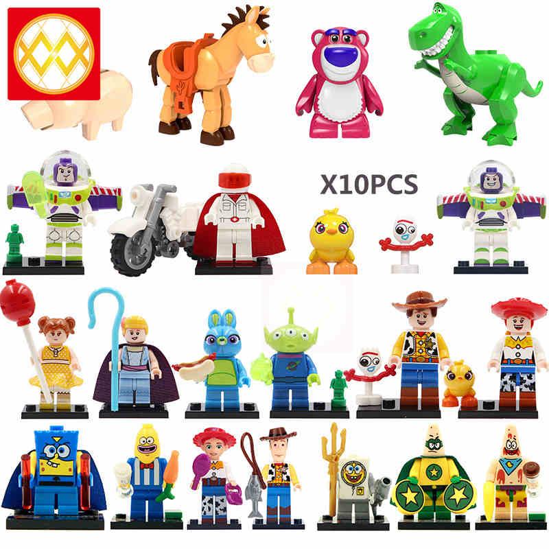 Alien Toy Story Buzz Lightyear Woody Jessie Ducky Duke Caboom Doll Toys