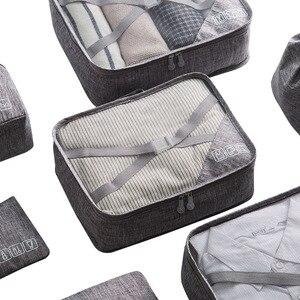 Image 5 - 7 sztuk/zestaw Cation torby podróżne wodoodporne etykiety na walizki pakowanie organizator kobiety przenośne pakowanie odzież sortowanie Case akcesoria do toreb